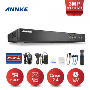 ANNKE DT61GB 16CH 3MP HD Live Viewing H 264+ Video Compression TVI Digital  Video Recorder